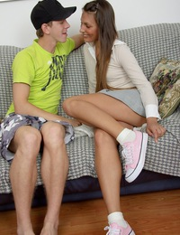 Teen couple having hot sex